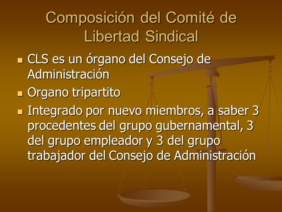 Composición del Comité de Libertad Sindical