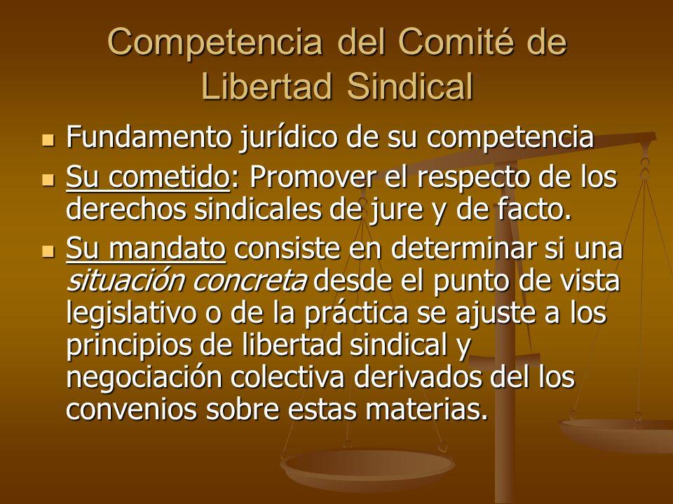 Competencia del Comité de Libertad Sindical
