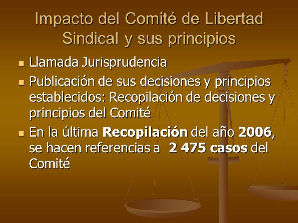 Impacto del Comité de Libertad Sindical y sus principios