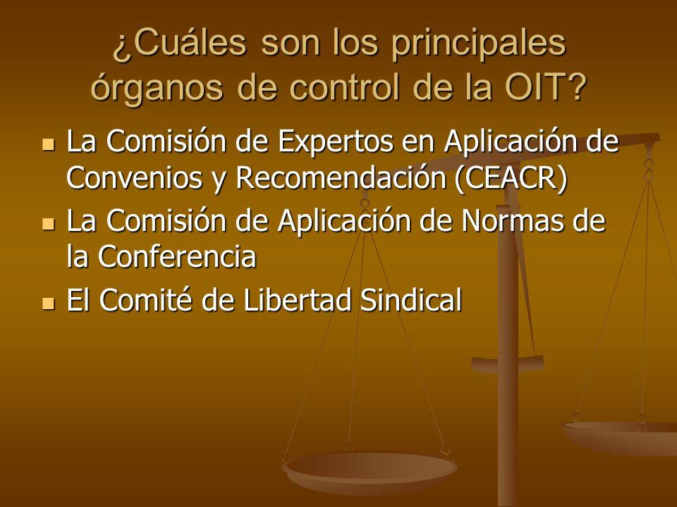 ¿Cuáles son los principales órganos de control de la OIT