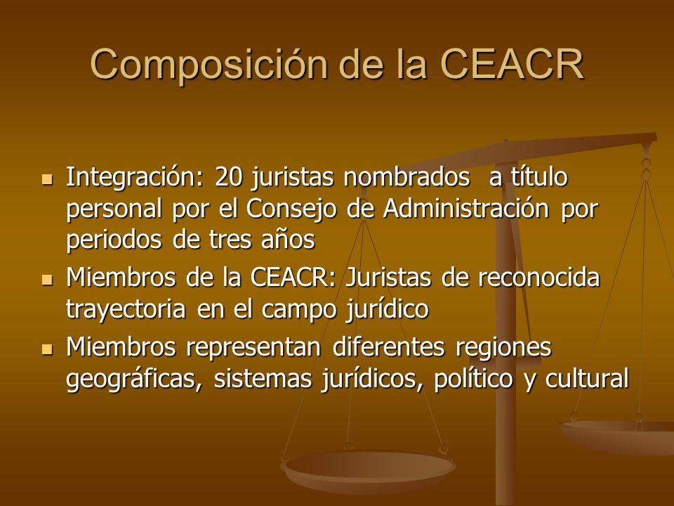 Composición de la CEACR