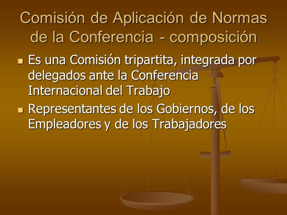 Comisión de Aplicación de Normas de la Conferencia - composición