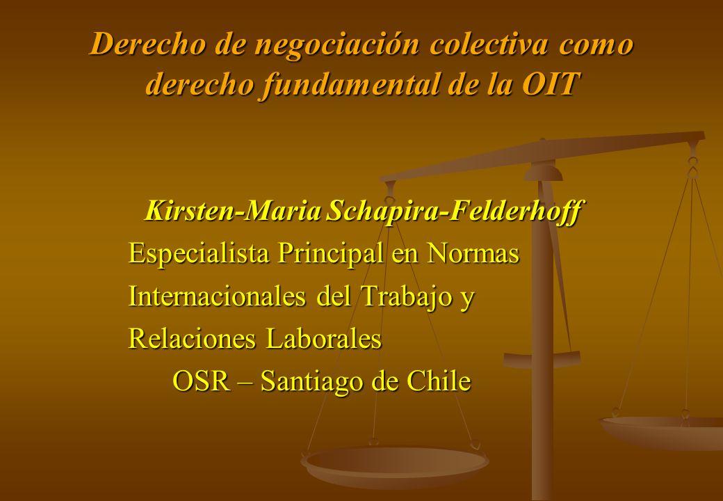 Derecho de negociación colectiva como derecho fundamental de la OIT