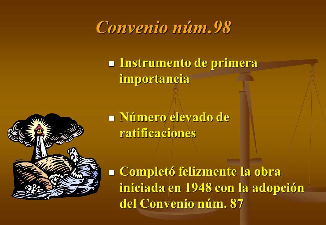 Convenio núm.98 Instrumento de primera importancia