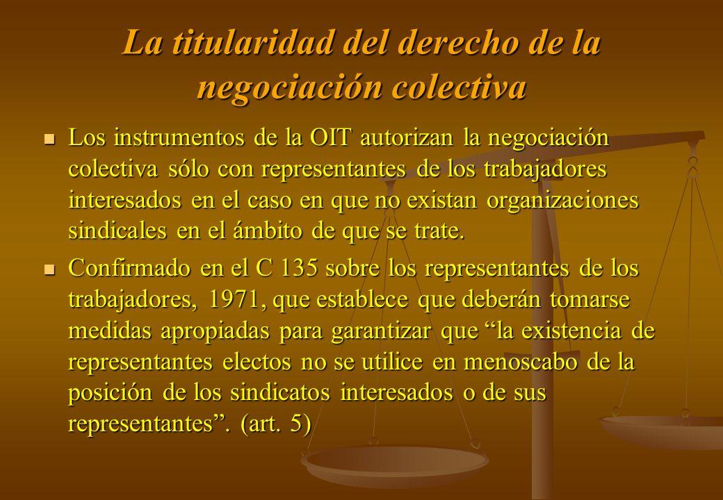 La titularidad del derecho de la negociación colectiva