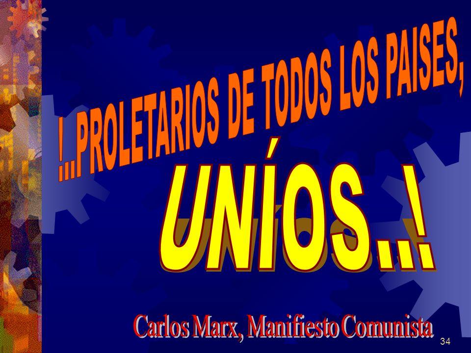 UNÍOS..! !..PROLETARIOS DE TODOS LOS PAISES,