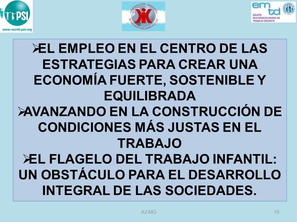AVANZANDO EN LA CONSTRUCCIÓN DE CONDICIONES MÁS JUSTAS EN EL TRABAJO