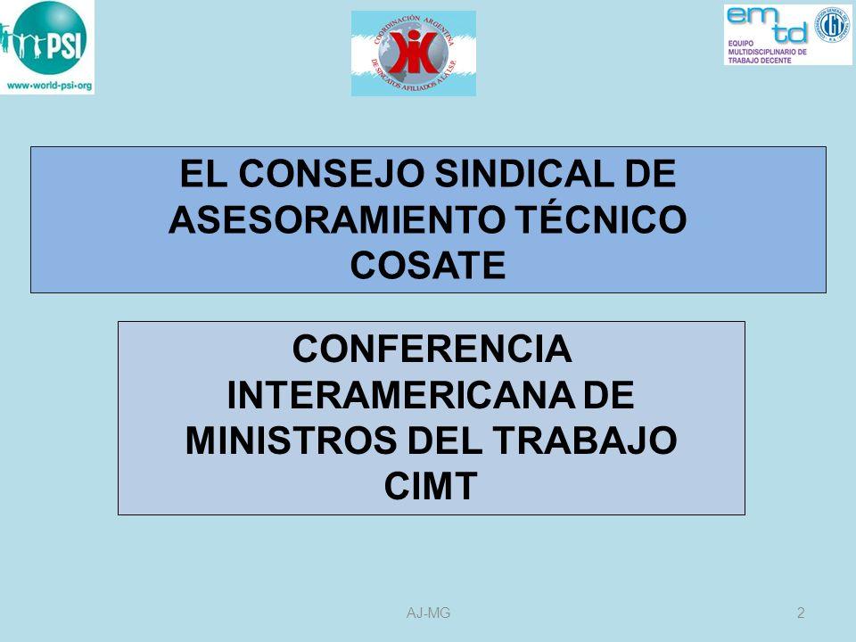 EL CONSEJO SINDICAL DE ASESORAMIENTO TÉCNICO COSATE