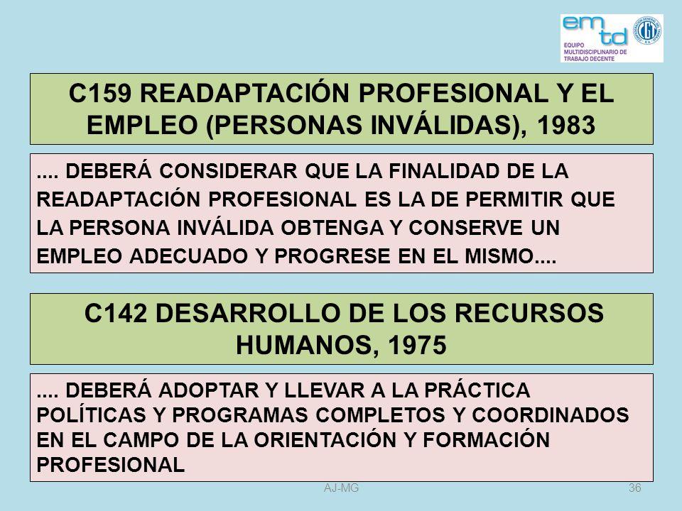C159 READAPTACIÓN PROFESIONAL Y EL EMPLEO (PERSONAS INVÁLIDAS), 1983