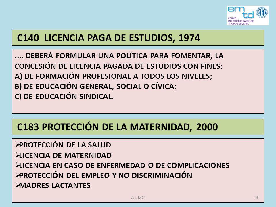 C140 LICENCIA PAGA DE ESTUDIOS, 1974