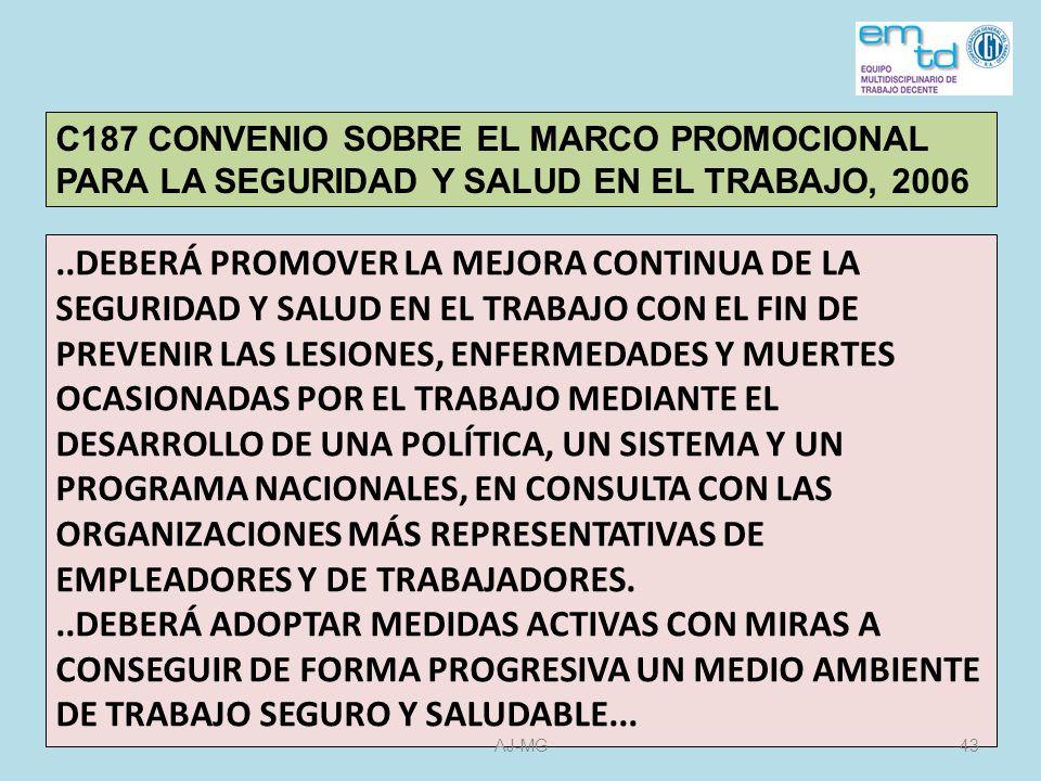 C187 CONVENIO SOBRE EL MARCO PROMOCIONAL PARA LA SEGURIDAD Y SALUD EN EL TRABAJO, 2006