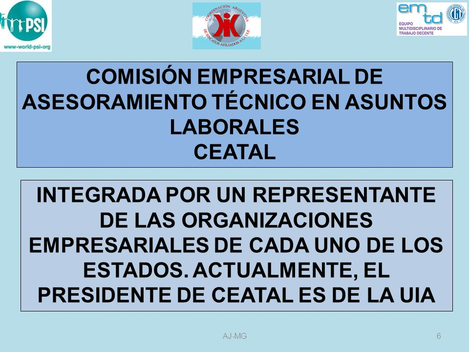 COMISIÓN EMPRESARIAL DE ASESORAMIENTO TÉCNICO EN ASUNTOS LABORALES