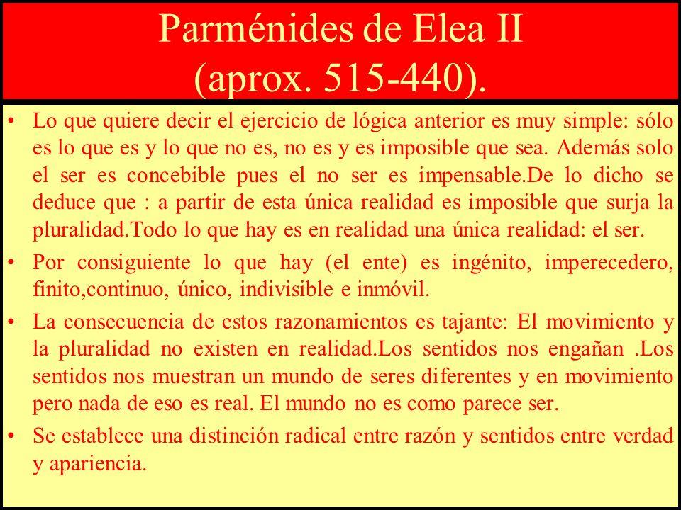 Parménides de Elea II (aprox. 515-440).