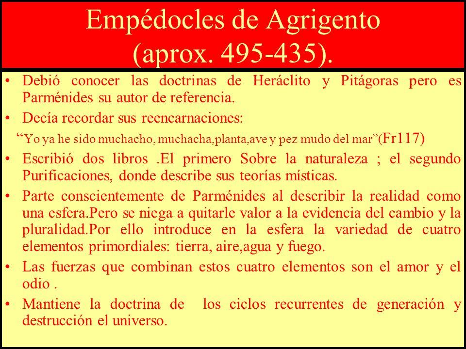 Empédocles de Agrigento (aprox. 495-435).