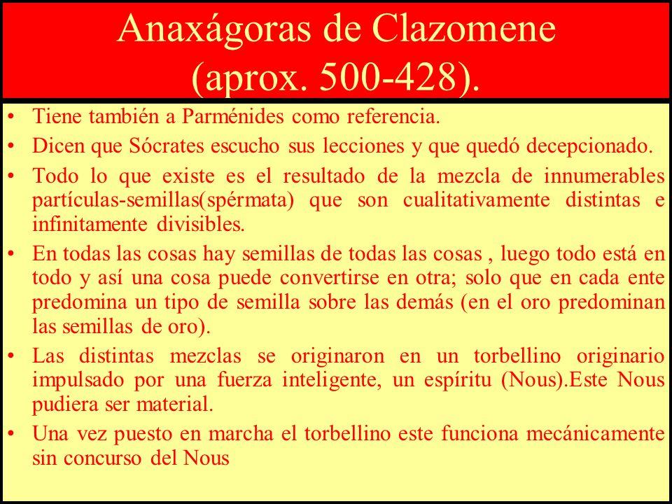 Anaxágoras de Clazomene (aprox. 500-428).