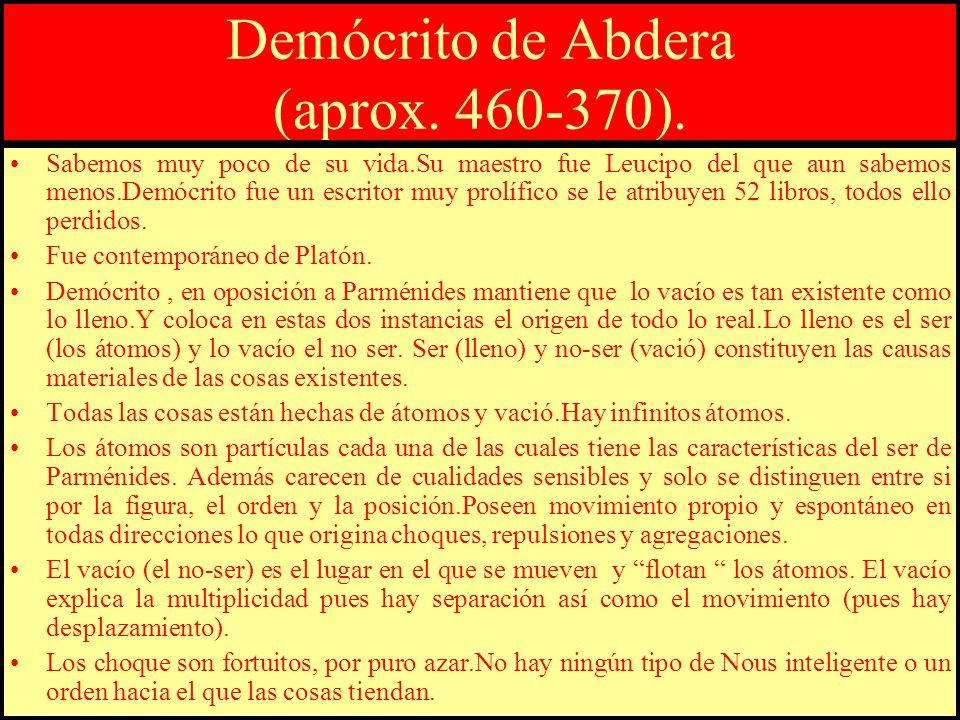 Demócrito de Abdera (aprox. 460-370).
