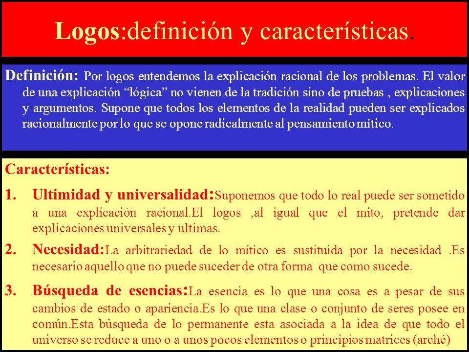 Logos:definición y características.