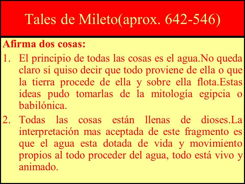 Tales de Mileto(aprox. 642-546)