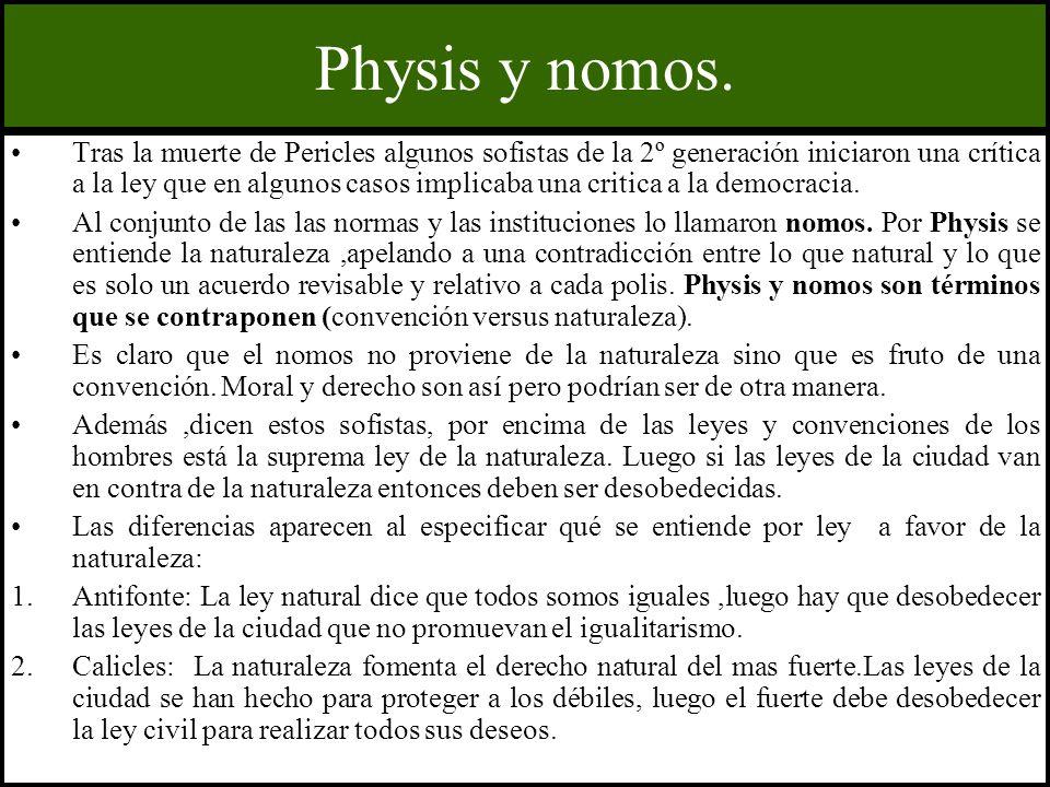 Physis y nomos.
