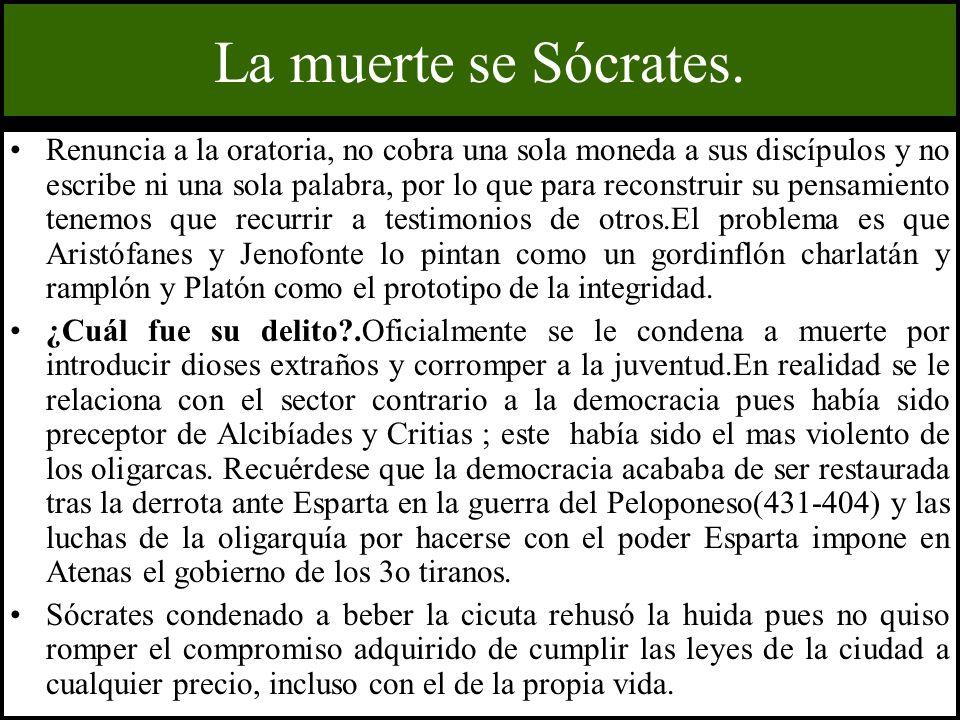 La muerte se Sócrates.