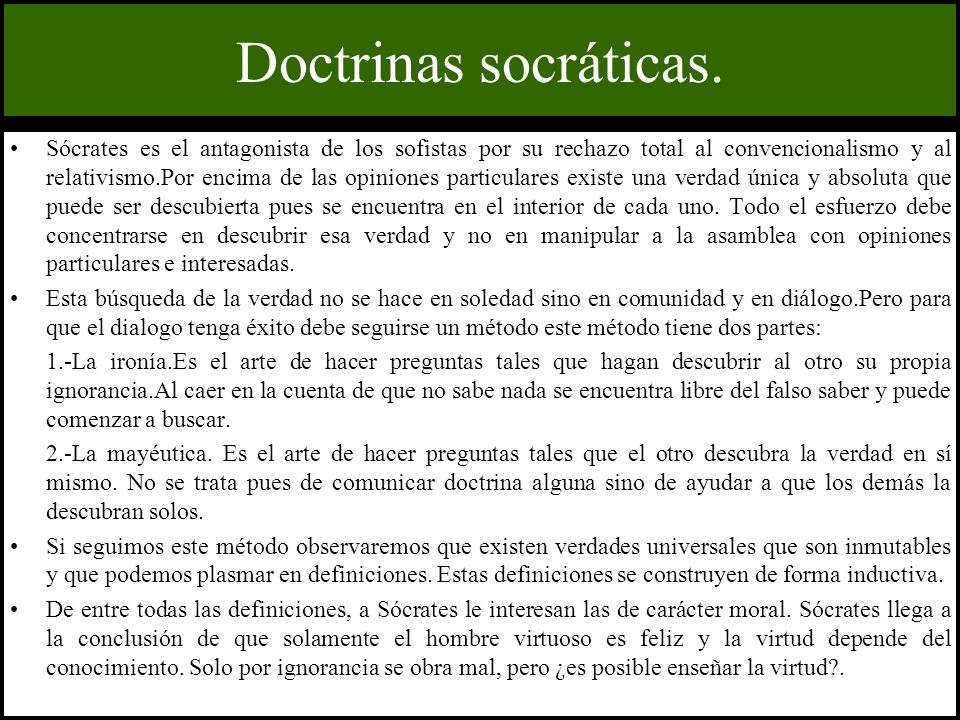 Doctrinas socráticas.
