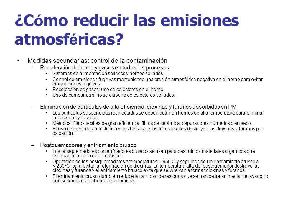 ¿Cómo reducir las emisiones atmosféricas
