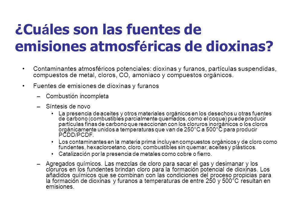 ¿Cuáles son las fuentes de emisiones atmosféricas de dioxinas
