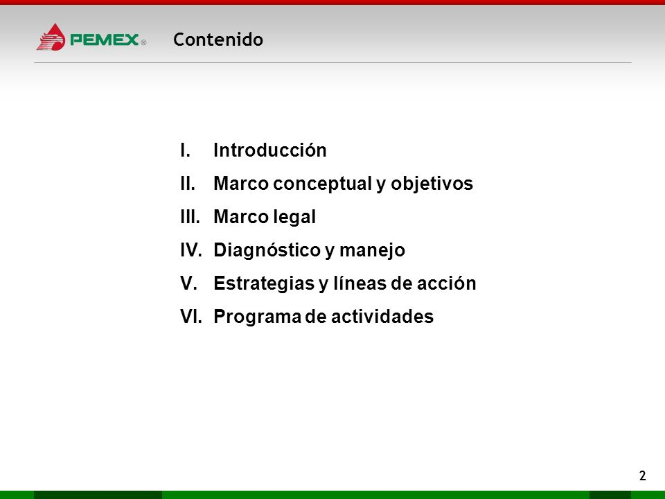 Marco conceptual y objetivos Marco legal Diagnóstico y manejo