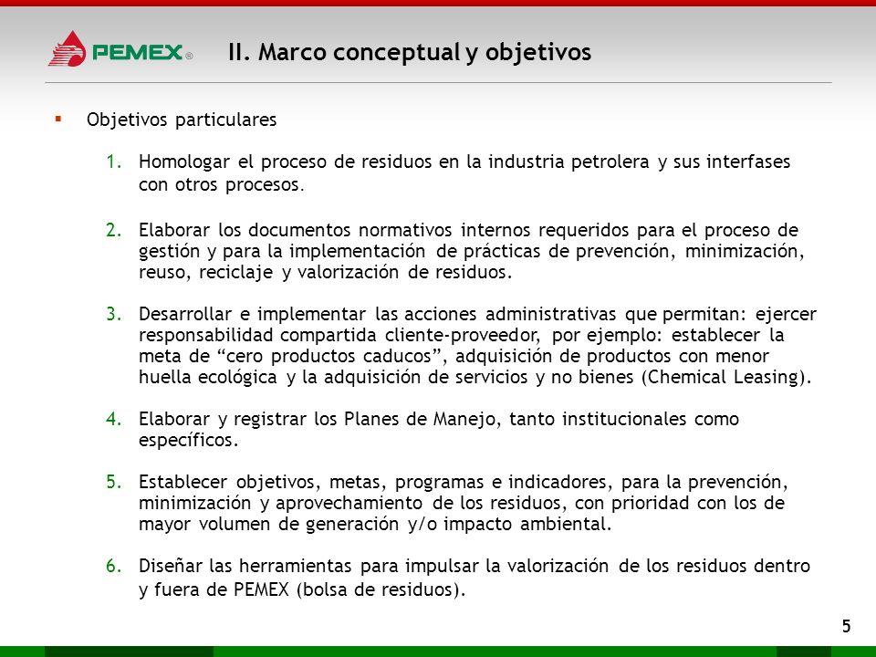 II. Marco conceptual y objetivos