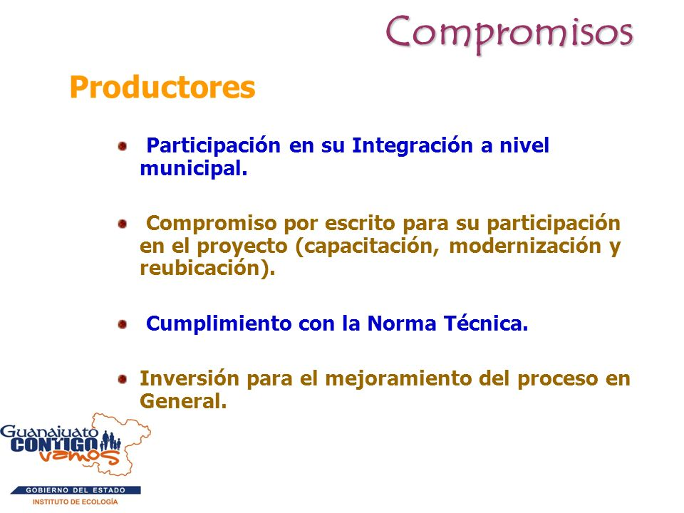 Compromisos Productores