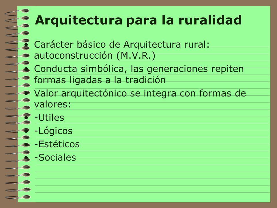 Arquitectura para la ruralidad