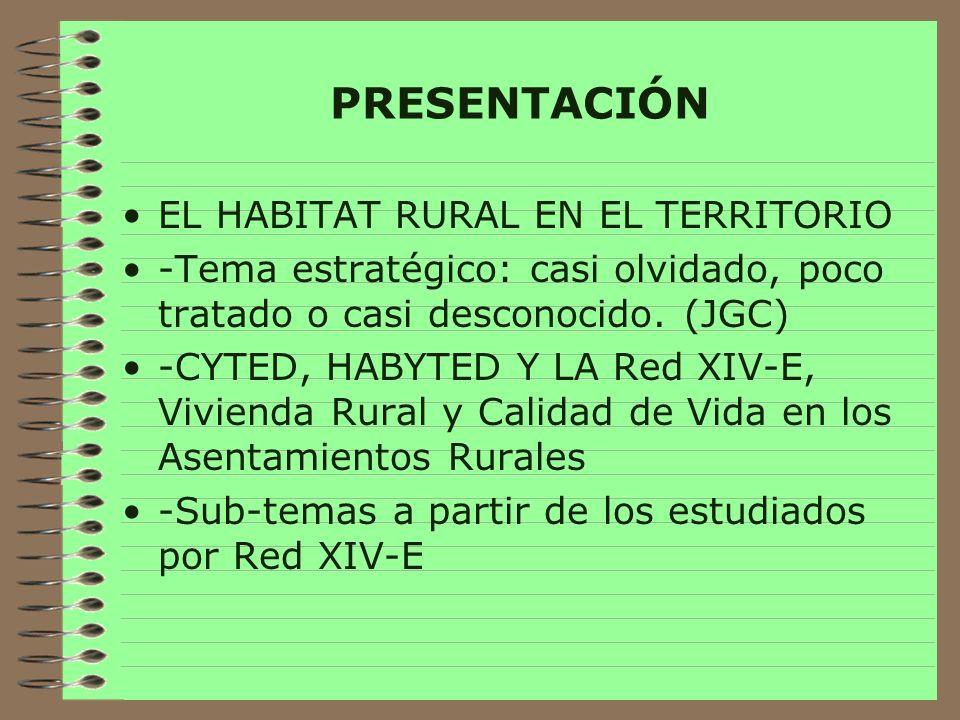 PRESENTACIÓN EL HABITAT RURAL EN EL TERRITORIO