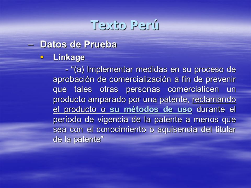 Texto Perú Datos de Prueba Linkage