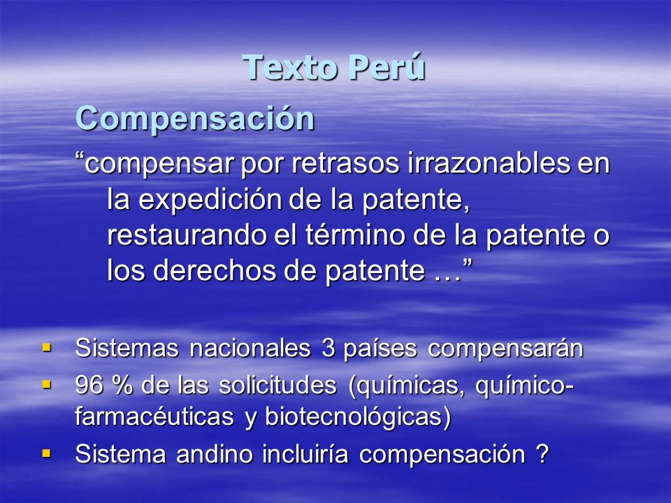 Texto Perú Compensación