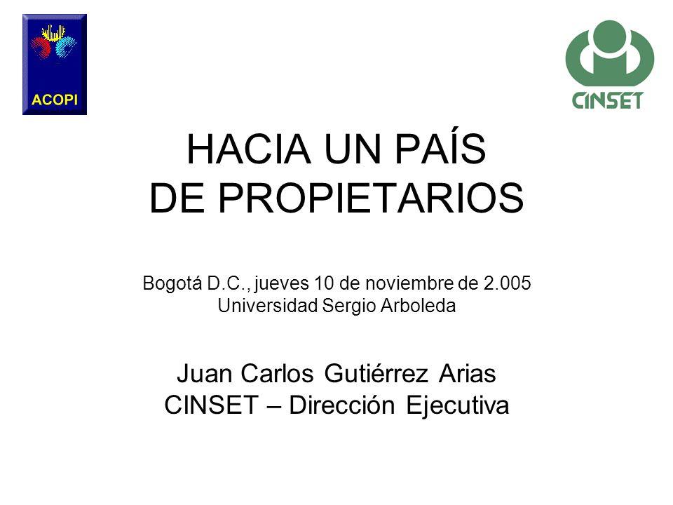 Juan Carlos Gutiérrez Arias CINSET – Dirección Ejecutiva
