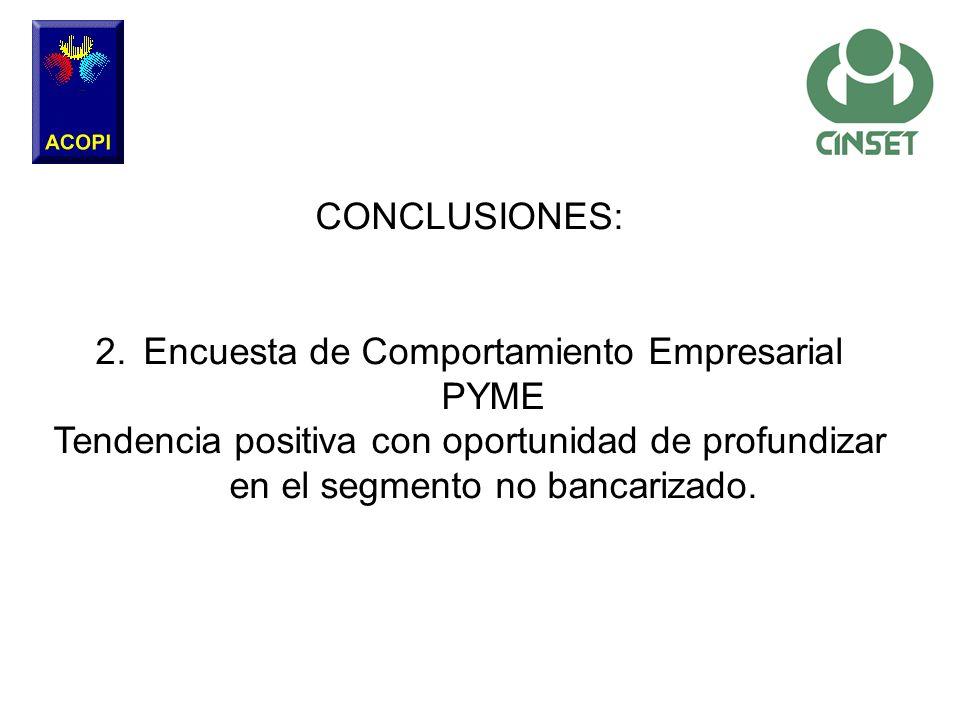 Encuesta de Comportamiento Empresarial PYME