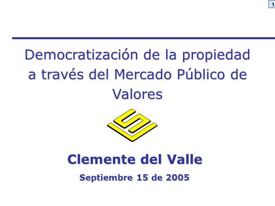 Democratización de la propiedad a través del Mercado Público de Valores