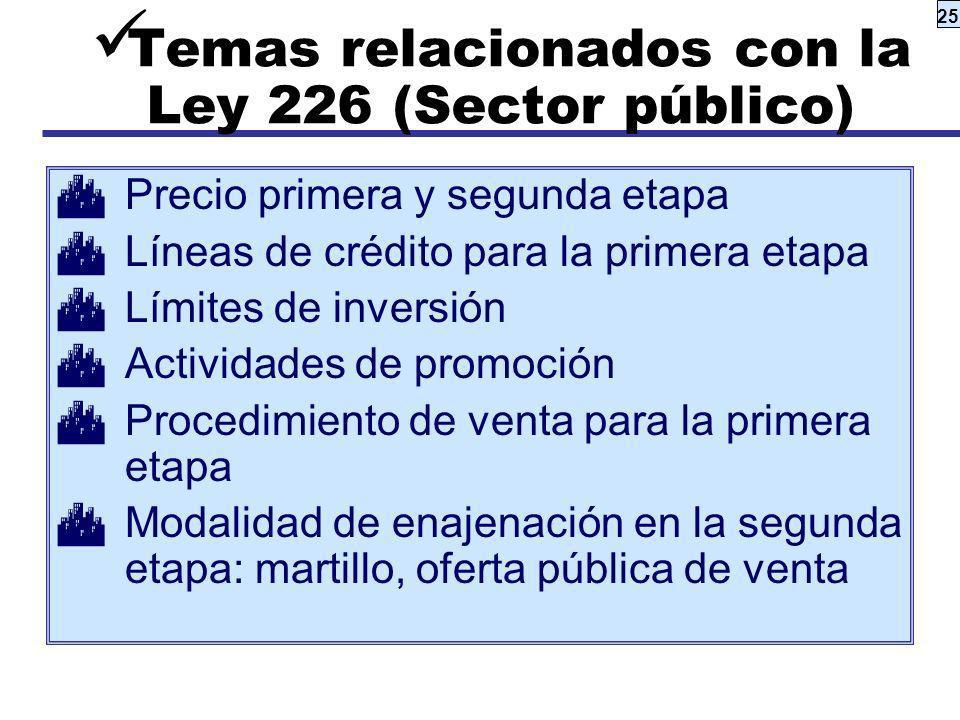 Temas relacionados con la Ley 226 (Sector público)