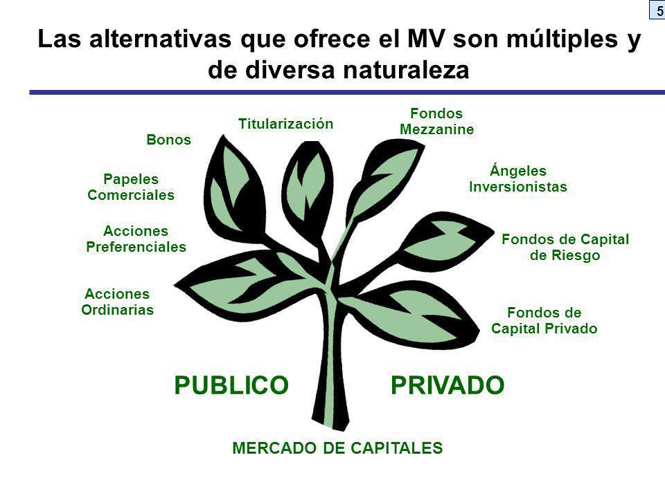 Las alternativas que ofrece el MV son múltiples y de diversa naturaleza