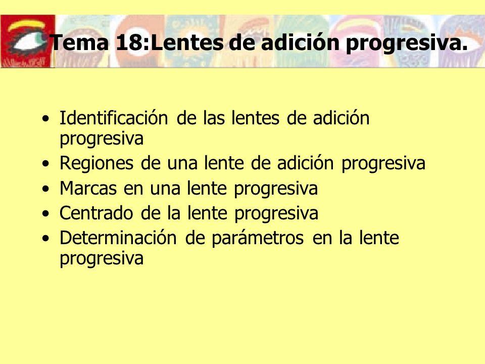 Tema 18:Lentes de adición progresiva.
