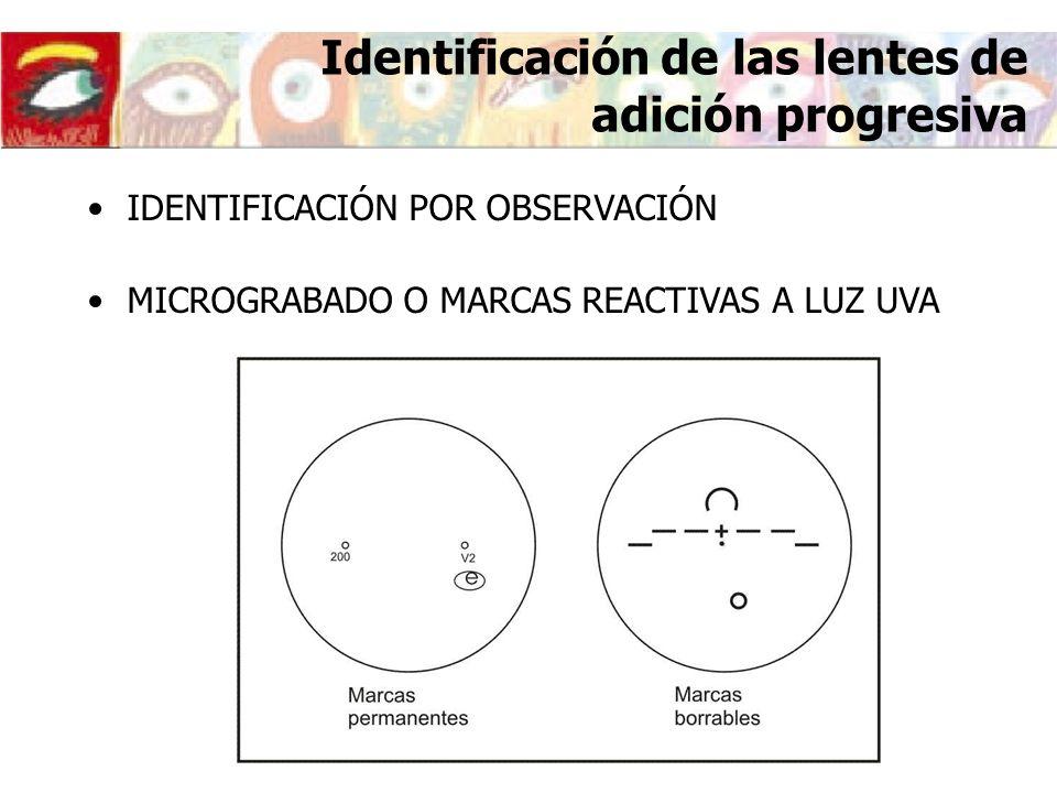 Identificación de las lentes de adición progresiva