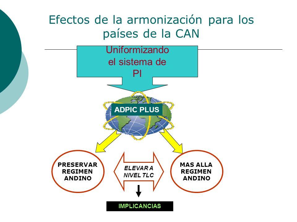 Efectos de la armonización para los países de la CAN