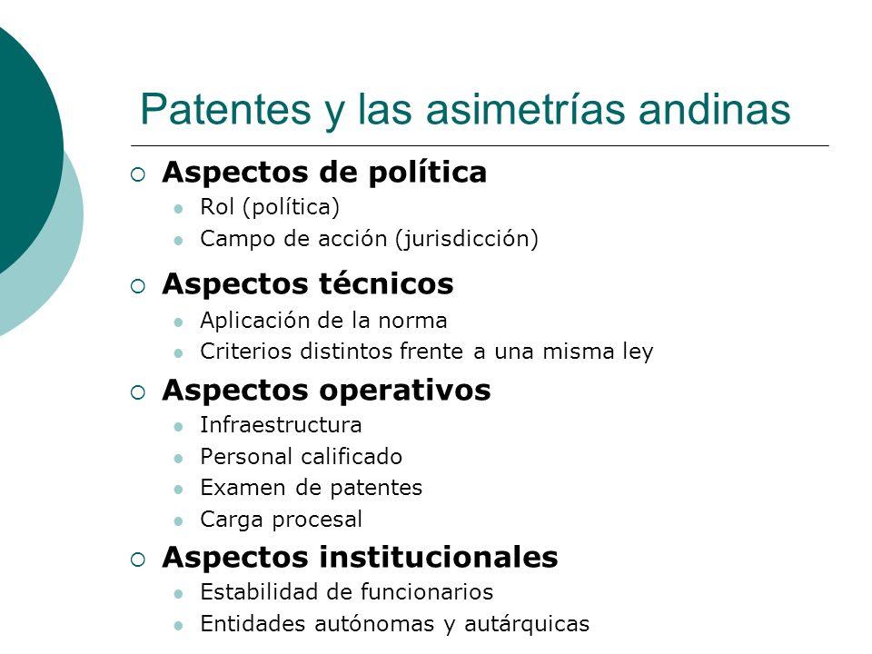 Patentes y las asimetrías andinas