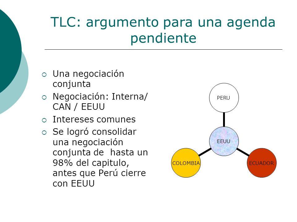 TLC: argumento para una agenda pendiente