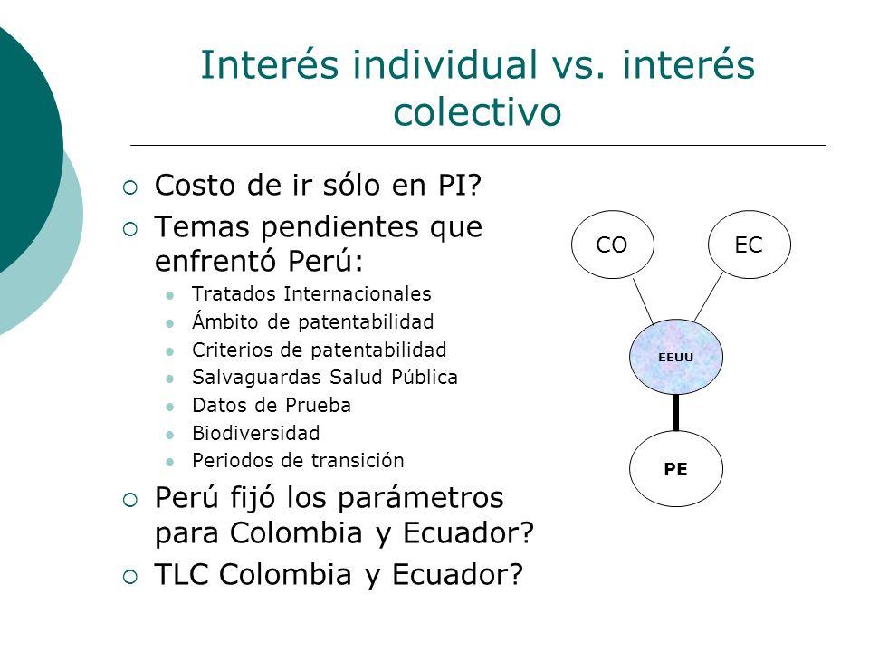 Interés individual vs. interés colectivo