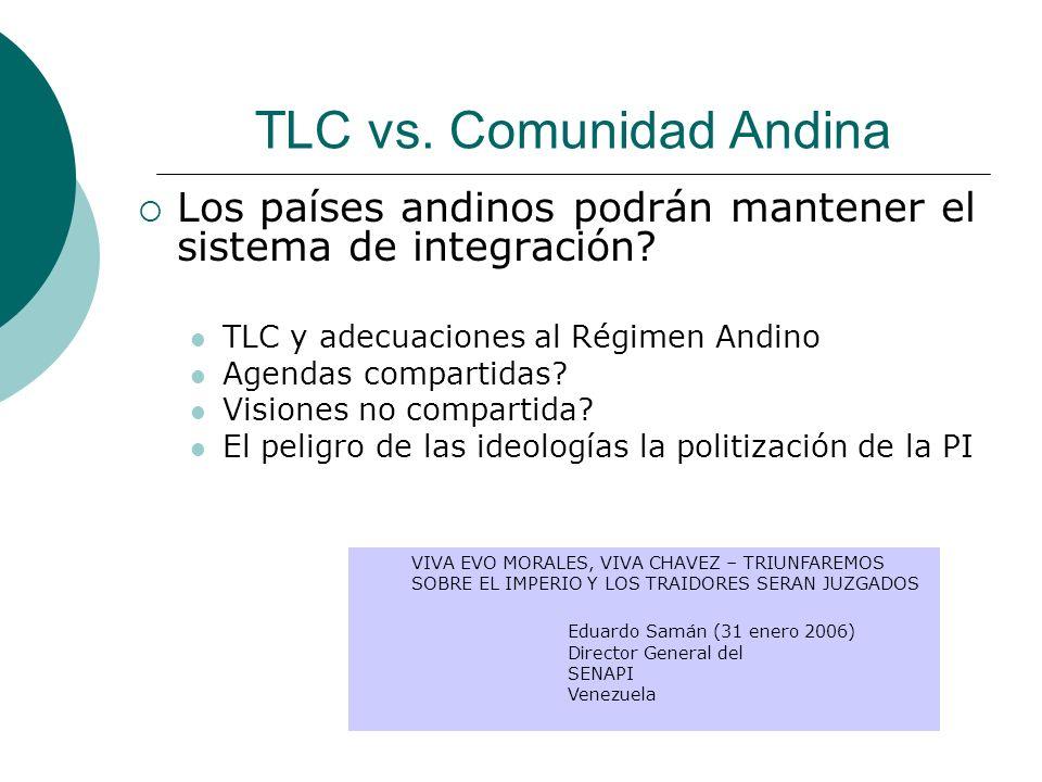 TLC vs. Comunidad Andina