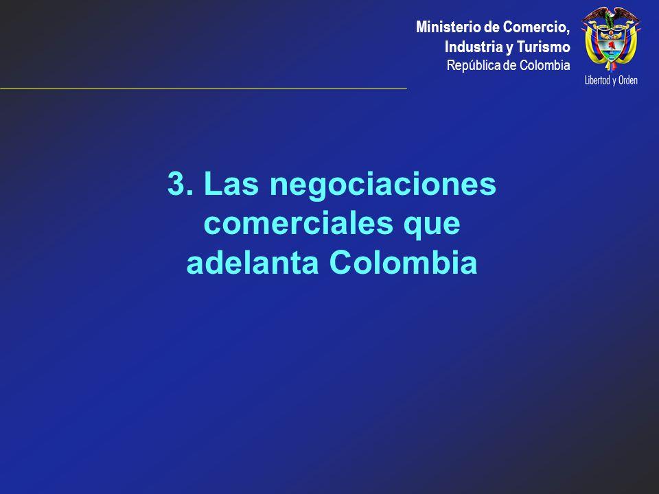 3. Las negociaciones comerciales que adelanta Colombia