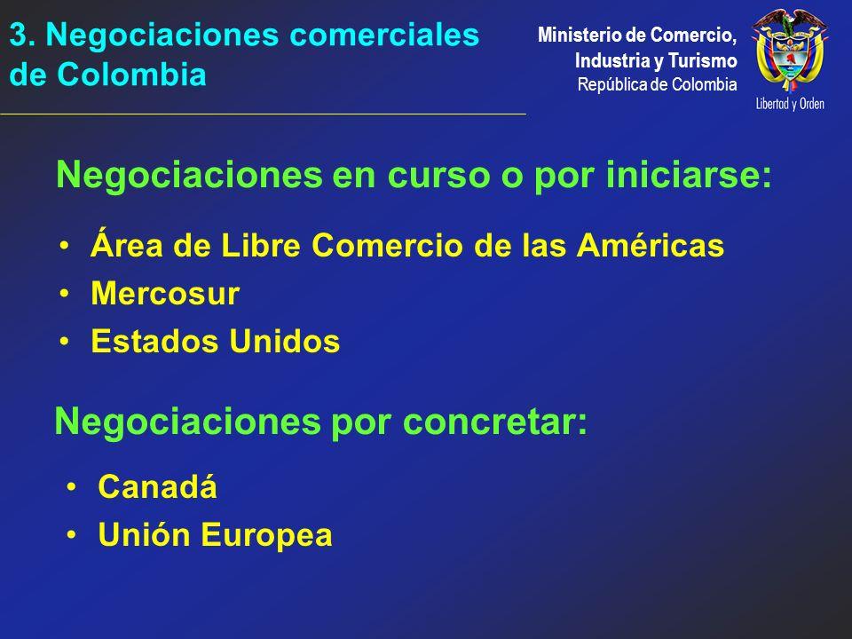 3. Negociaciones comerciales de Colombia
