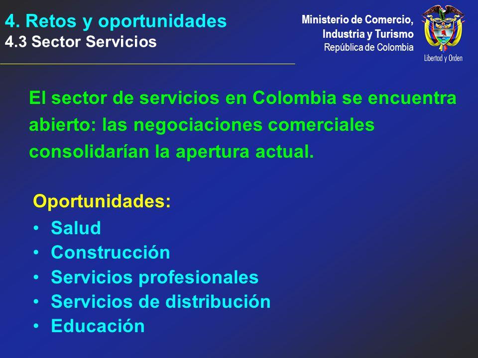 4. Retos y oportunidades 4.3 Sector Servicios