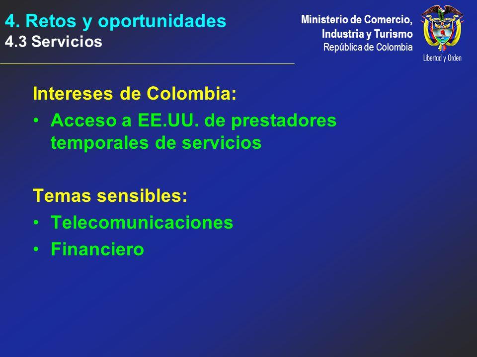 Intereses de Colombia: